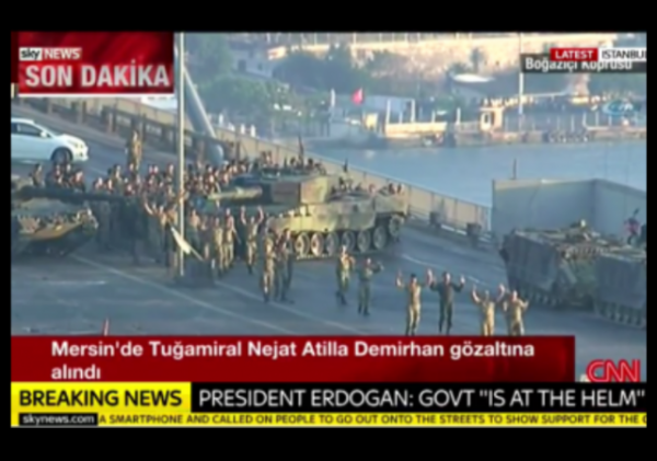 Turkey Coup Soldiers Surrendering w border