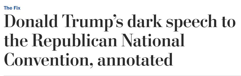 WaPo Trump Dark Speech