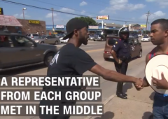 When #BlackLivesMatter Protesters and Counter Protesters Met in Dallas