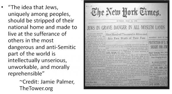 Jews vulnerable, Jamie Palmer