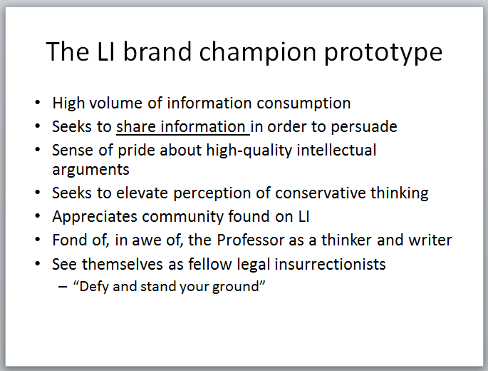 Legal Insurrection Research - Slide - Brand Champion Prototype