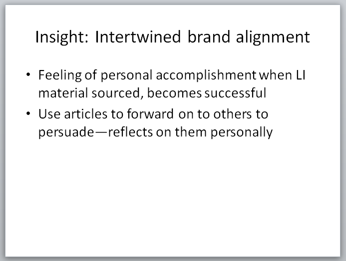 Legal Insurrection Research - Slide - Intertwined Brand Alignment