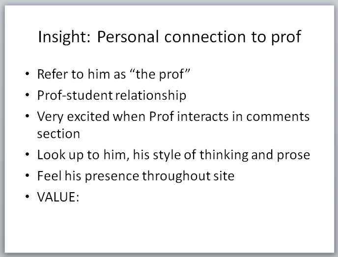 Legal Insurrection Research - Slide - Personal Connection to Prof