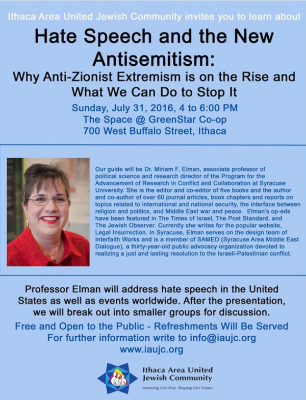 Poster of ithaca event