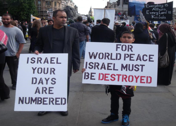 Protest, World Peace destroy Israel