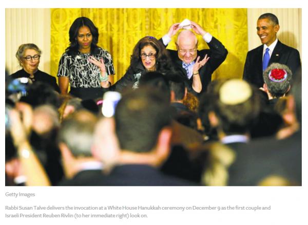 Rabbi Talve delivers Chanukah blessing