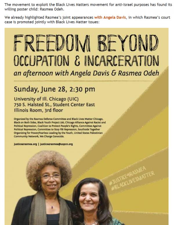Rasema Odeh and Angela Davis poster
