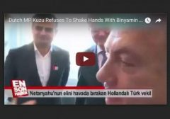 Dutch MP refuses to shake Netanyahu hand VIDEO w border
