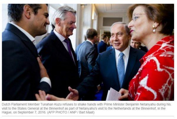 http://www.timesofisrael.com/dutch-muslim-mp-refuses-to-shake-netanyahus-hand/