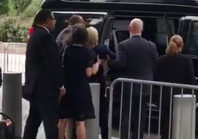Hillary Clinton Helped to Van 9-11 Memorial 2016