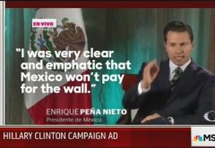 Hillary Clinton campaign ad Mexico wall 9-2-16