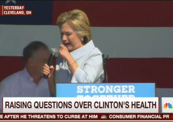 Hillary coughing fit MJ 9-5-16