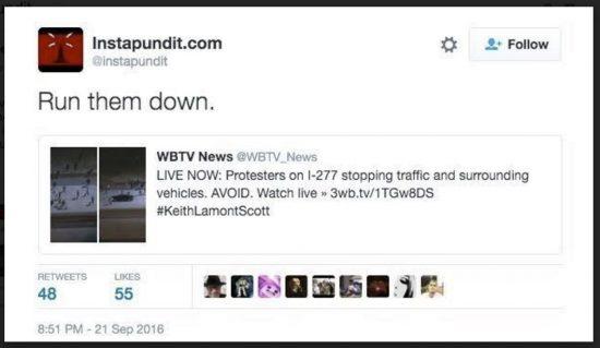 Instapundit Tweet Charlotte Riots