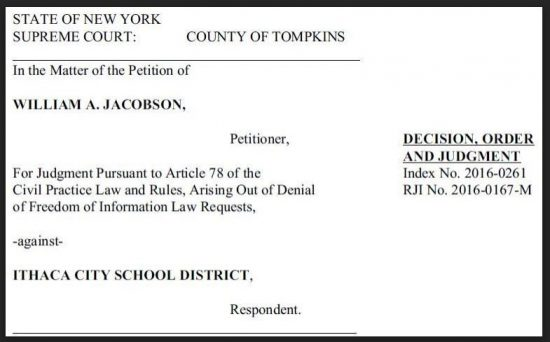 Jacobson v ICSD - Caption Order to Produce Video and Documents 9-23-2016