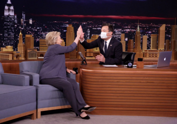 http://thehill.com/blogs/blog-briefing-room/news/296440-jimmy-fallon-greets-clinton-with-medical-mask