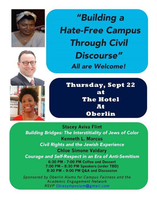 Oberlin Building a Hate-Free Campus Through Civil Discourse
