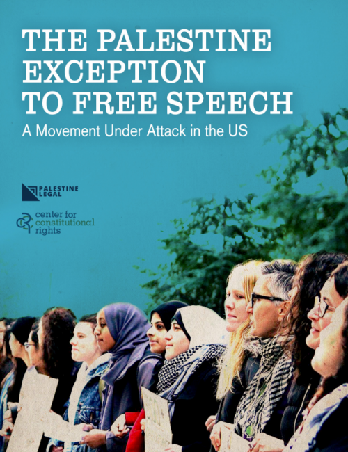 Palestine Legal - Free Speech Report Cover