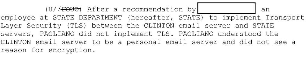 Pagliano Hillary Clinton emails