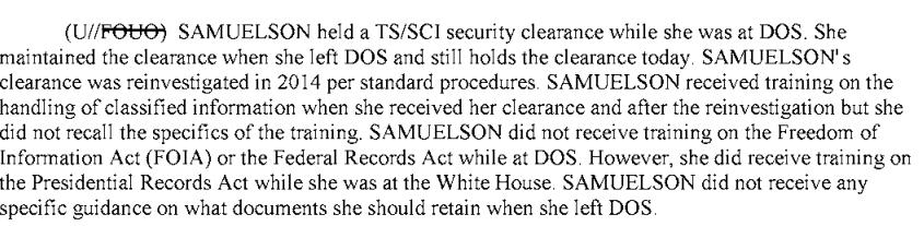 Heather Samuelson Hillary Emails