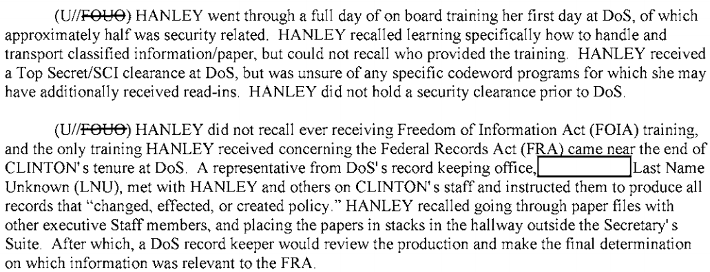 Hanley Hillary Clinton Emails