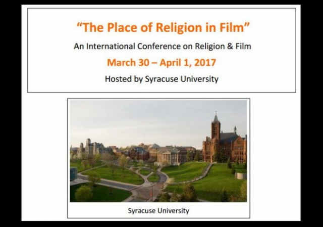Syracuse Symposium Place of Religion in Film w border