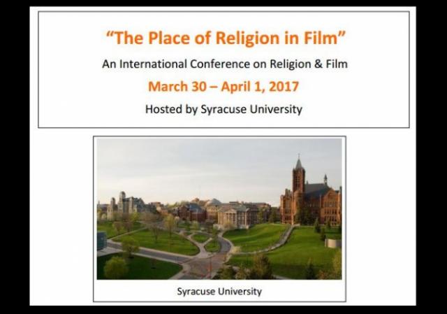 Syracuse Symposium Place of Religion in Film w border