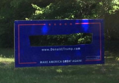 Trump Sign Cut Out Hampton Falls NH
