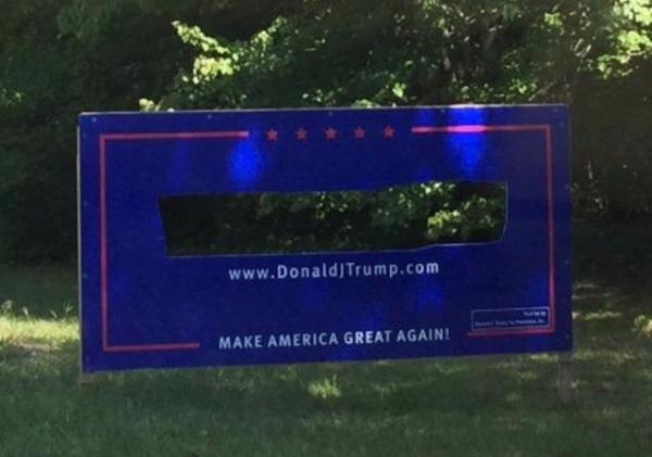Trump Sign Cut Out Hampton Falls NH