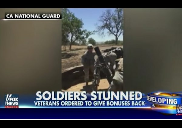 california national guard overpayments
