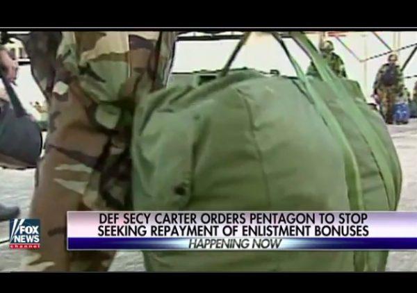 carter stops repayment soldiers