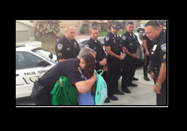 cops escort fallen officer daughter