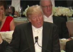 donald trump alfred smith dinner