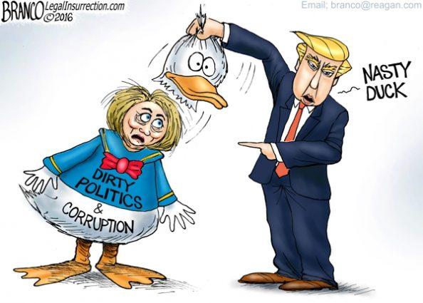 Hillary Donald Duck