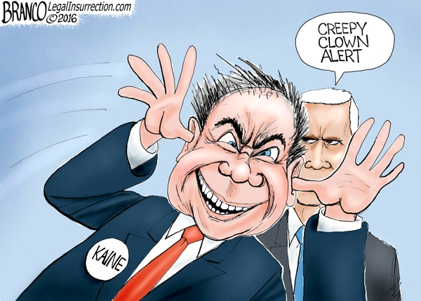 Image result for pence /kaine debate 2016 cartoons