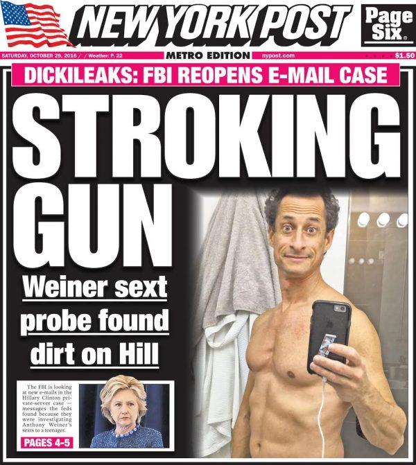 Dickileaks - Stroking Gun - Image Copyright NYPost.Com - LegalInsurrection.Com