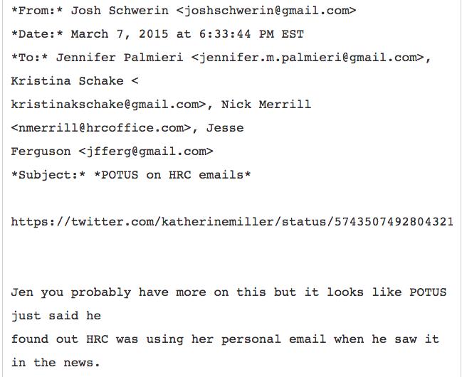 Obama Knew Hillary Email