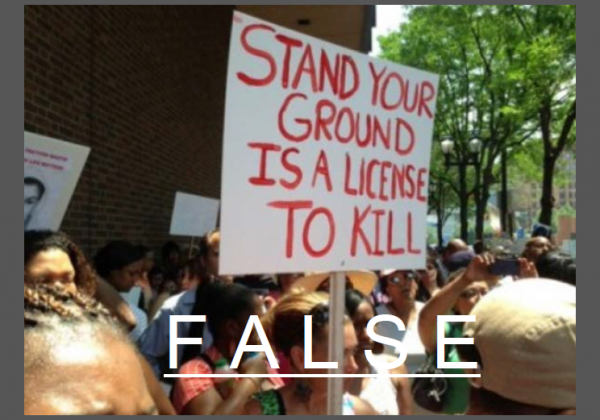 Stand Your Ground License to Kill Protest Sign - False