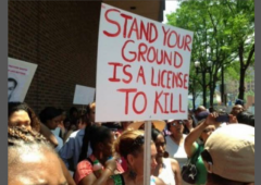 Stand Your Ground License to Kill Protest Sign w border