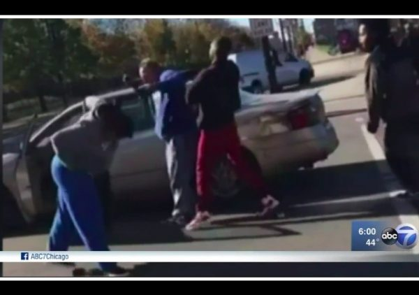 four charged beating trump supporter