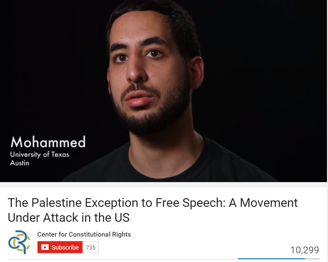 Mohammed Nabulsi Video Palestine Legal Exception YouTube