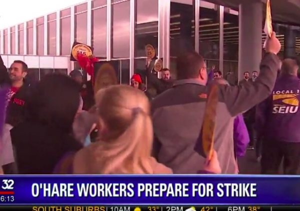 ohare workers plan strike