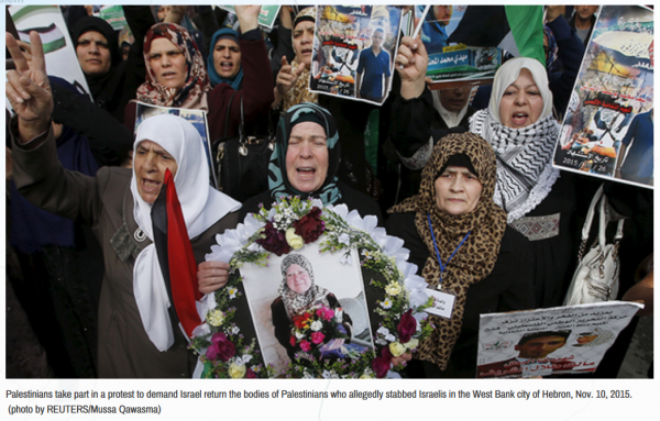 West Bank Protest for Release of Palestinian Terrorists' Remains   Credit: Al-Monitor