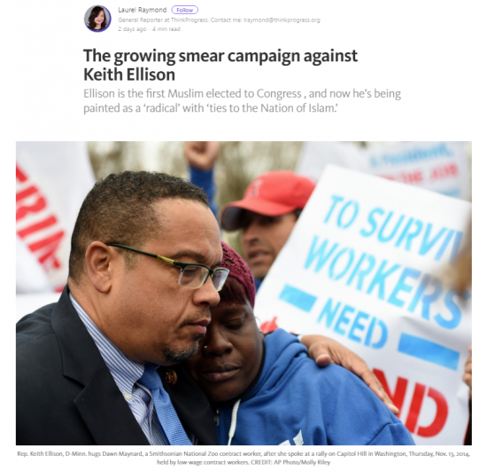 https://thinkprogress.org/the-growing-smear-campaign-against-keith-ellison-233e16fab864#.oxdqhzmaz