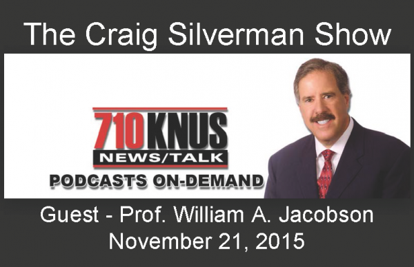 William Jacobson on Craig Silverman Show Nov 21 2015