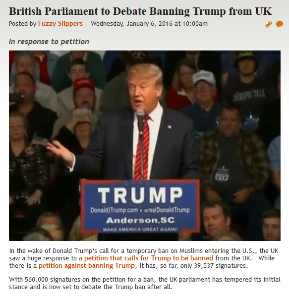 http://legalinsurrection.com/2016/01/british-parliament-to-debate-banning-trump-from-uk/