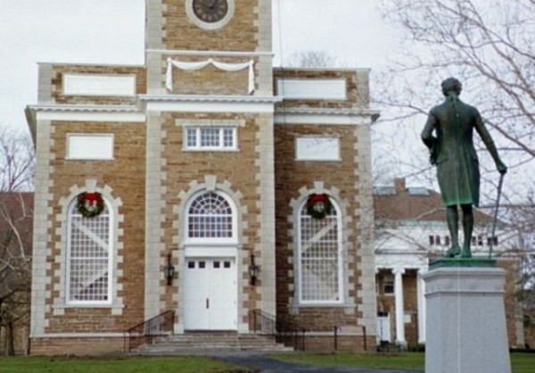 Hamilton College Chapel and Statue