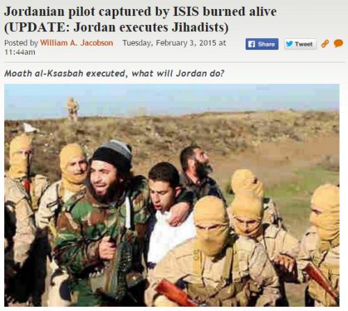 http://legalinsurrection.com/2015/02/reports-jordanian-pilot-captured-by-isis-burned-alive/