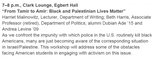 Ithaca College MLK Day Black and Palestinian Lives Matter