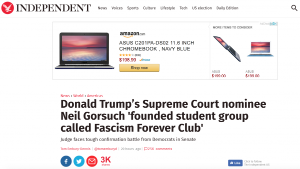 http://www.independent.co.uk/news/world/americas/donald-trump-supreme-court-justice-nominee-neil-gorsuch-fascism-forever-club-studen-group-found-a7559676.html