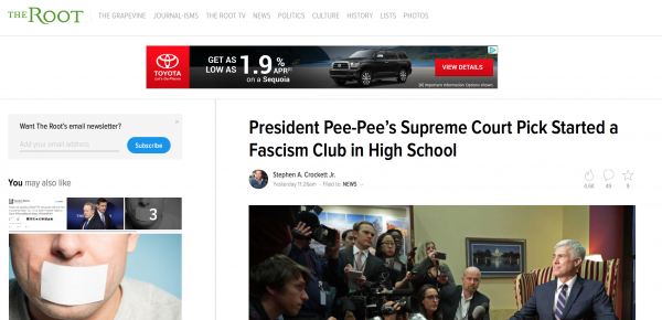 http://www.theroot.com/president-pee-pees-supreme-court-pick-started-a-fascism-1791918061